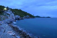 Vista sul mare della roccia Fotografia Stock