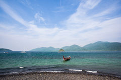 Vista sul mare della spiaggia della Tailandia fotografia stock