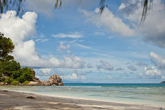 Vista sul mare delle Seychelles Fotografia Stock