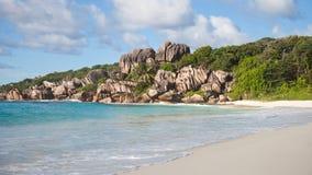 Vista sul mare delle Seychelles Immagine Stock