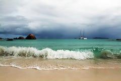 Vista sul mare delle Seychelles. Fotografie Stock Libere da Diritti