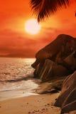 Vista sul mare delle Seychelles Fotografia Stock Libera da Diritti