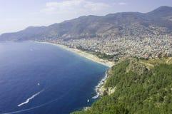 Vista sul mare di Alanya Fotografia Stock Libera da Diritti