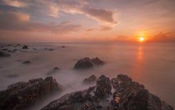 Vista sul mare di alba Fotografia Stock