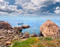 Vista sul mare di estate Immagine Stock Libera da Diritti