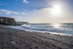Vista sul mare di Fuerteventura Fotografie Stock Libere da Diritti
