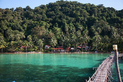 Vista sul mare di KOH WAI Fotografia Stock