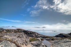 Vista sul mare di Lofoten Fotografie Stock Libere da Diritti