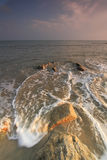 Vista sul mare di monsone in Kuantan Pahang Immagine Stock Libera da Diritti