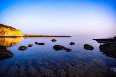 Vista sul mare di Qbajjar immagine stock