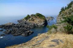 Vista sul mare di strait juan de fuca Fotografie Stock Libere da Diritti