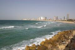 Vista sul mare di Tel Aviv fotografia stock libera da diritti