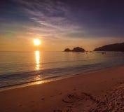 Vista sul mare di tramonto Fotografia Stock