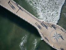 Vista sul mare di vista aerea Fotografia Stock Libera da Diritti