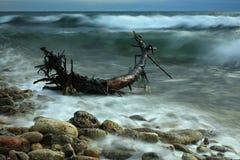 Vista sul mare dinamica Fotografie Stock Libere da Diritti
