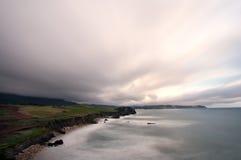 Vista sul mare drammatica Fotografia Stock