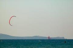 Vista sul mare e cervo-spuma Fotografia Stock Libera da Diritti