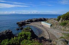 Vista sul mare e promontorio Immagini Stock