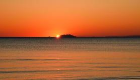 Vista sul mare e tramonto Immagine Stock Libera da Diritti