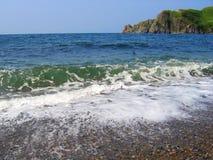 Vista sul mare in giorno pieno di sole Fotografia Stock