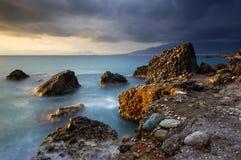 Vista sul mare in Grecia fotografie stock