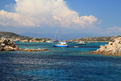 Vista sul mare idillica di estate Fotografie Stock Libere da Diritti