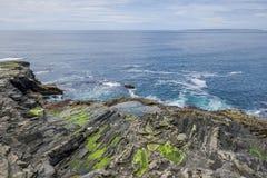 Vista sul mare irlandese rocciosa Fotografia Stock Libera da Diritti