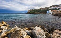 Vista sul mare in Koroni, Grecia del sud Immagine Stock Libera da Diritti