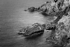 Vista sul mare. La Liguria, Italia fotografie stock libere da diritti