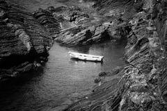 Vista sul mare. La Liguria, Italia immagini stock