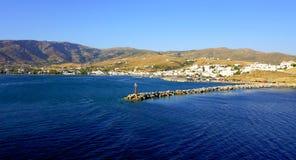 Vista sul mare in mar Egeo Fotografie Stock Libere da Diritti