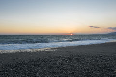Vista sul mare Mare tempestoso Fotografie Stock