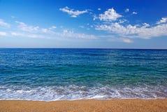 Vista sul mare mediterranea. fotografie stock