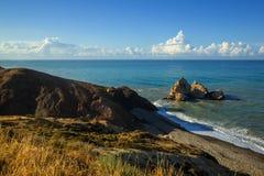 Vista sul mare Mediterranea Fotografie Stock Libere da Diritti