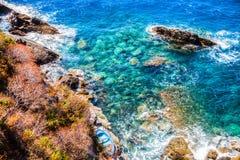 Vista sul mare mediterranea IV Immagine Stock Libera da Diritti