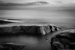Vista sul mare monotona Fotografia Stock Libera da Diritti