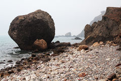 Vista sul mare nella nebbia. Foto 3653 Fotografie Stock Libere da Diritti
