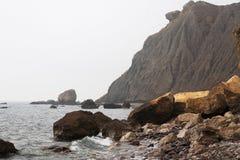 Vista sul mare nella nebbia. Foto 3693 Immagini Stock Libere da Diritti