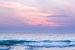 Vista sul mare nuvolosa immagine stock libera da diritti