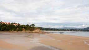 Vista sul mare pacifica in spagna Immagini Stock