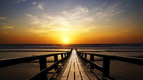 Vista sul mare pittoresca durante il tramonto Fotografia Stock Libera da Diritti