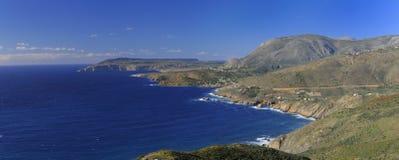 Vista sul mare pittoresca in penisola di Mani Fotografie Stock Libere da Diritti