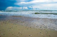Vista sul mare prima della tempesta Fotografia Stock