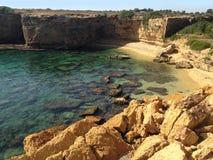 Vista sul mare Punta Mola Sicily immagine stock libera da diritti