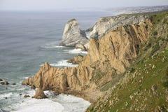Vista sul mare rocciosa Immagini Stock Libere da Diritti