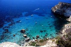 Vista sul mare in Sardegna, Italia Fotografie Stock Libere da Diritti