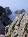 Vista sul mare scenica in Brittany, Francia Fotografia Stock
