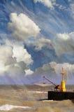 Vista sul mare strutturata Fotografia Stock Libera da Diritti