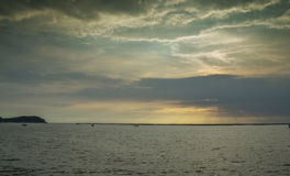 Vista sul mare in Tailandia Fotografie Stock Libere da Diritti