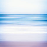 Vista sul mare tonificata blu Fotografie Stock